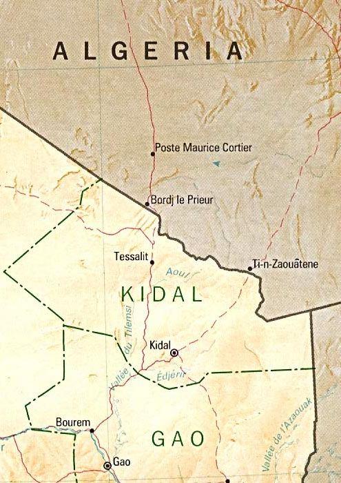 Mapa de Kidal