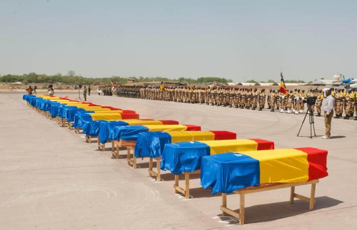 Caídos chadianso en Yamena