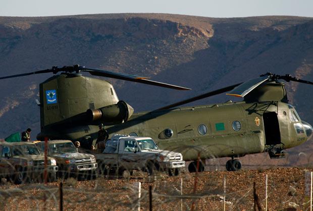 CH-47 libio al comienzo de la guerra civil