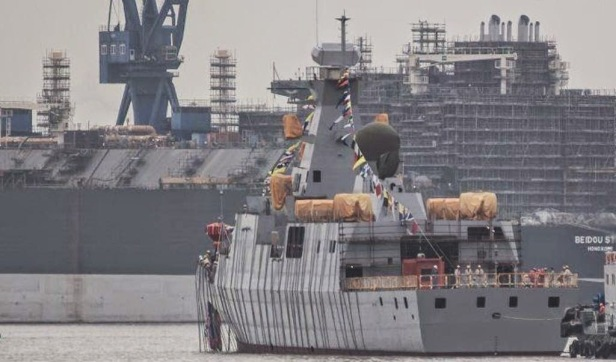China Launches Algerian Navy C28A Frigate (2)