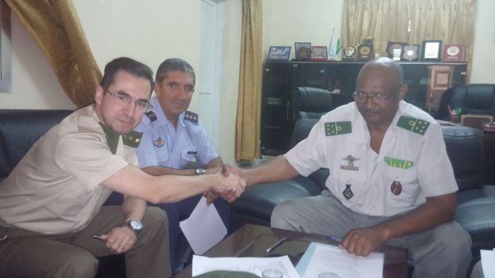 Firma del acuerdo bilateral en Mauritania.