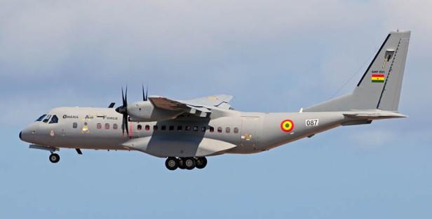 C-295M de la fuerza aérea de Ghana en un vuelo de prueba