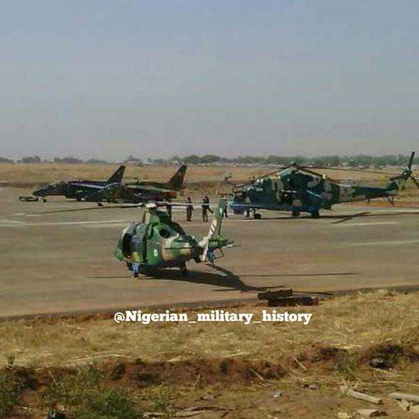 Alpha Jet, Mi-23 y A109 en recientes operaciones en Nigeria.