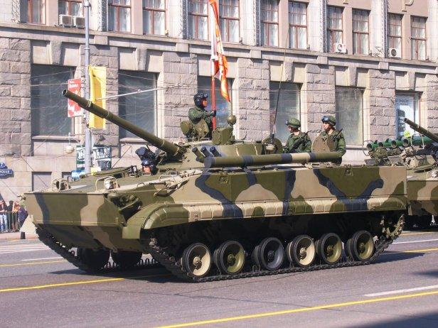 BMP-3 en Moscú