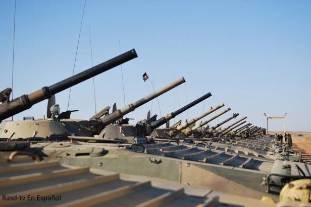Vehículos de combate de infantería BMP-1.