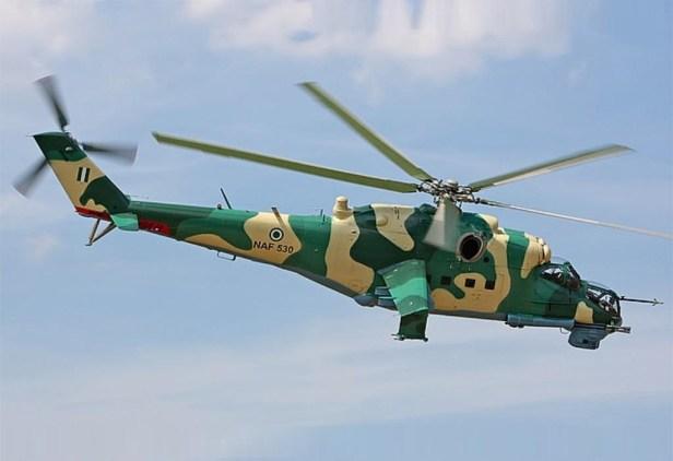 Mi-24P de la Fuerza Aérea de Nigeria.